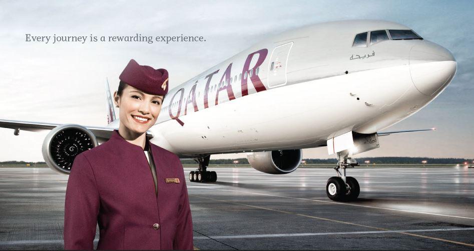 Tiếp viên của hãng Qatar Airways