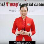 Chúc mừng bạn Diệu Linh trúng tuyển tiếp viên hàng không T'way Air