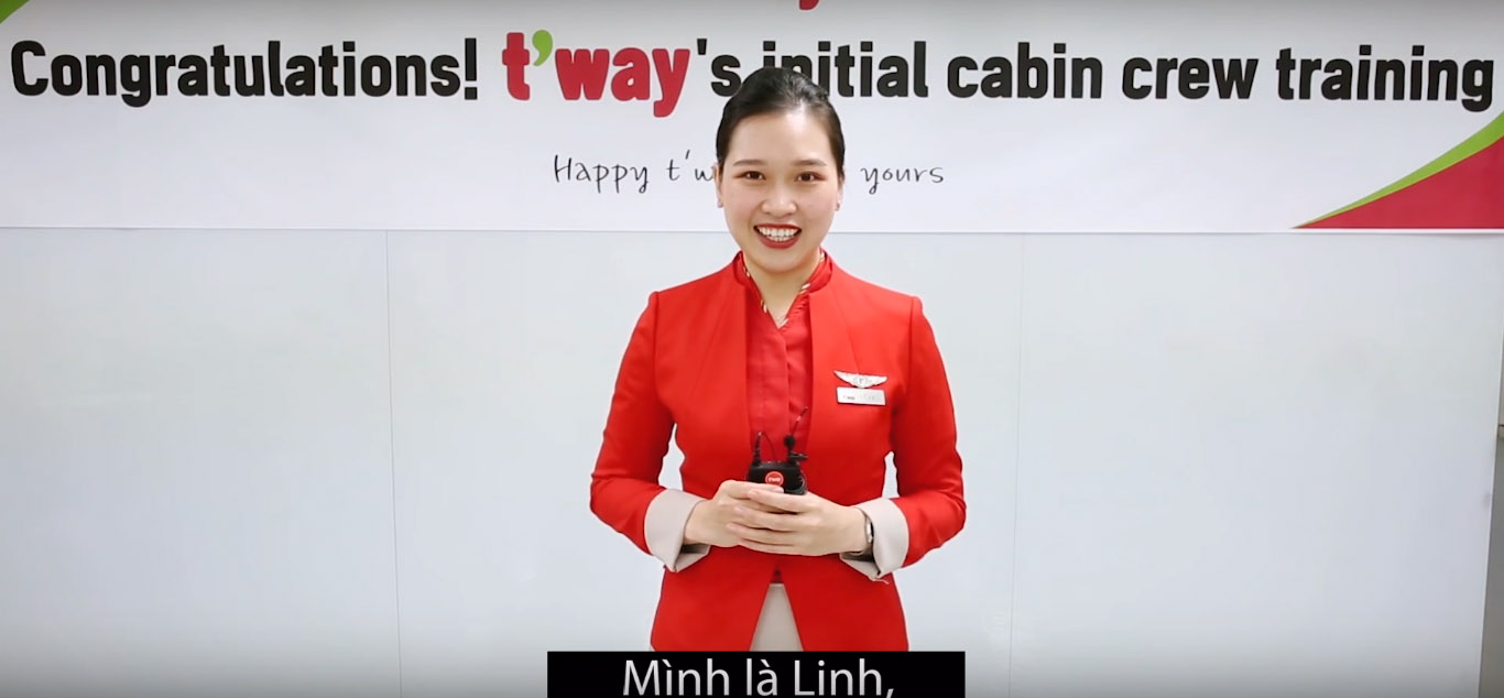 trúng tuyển tiếp viên hàng không T'way Air