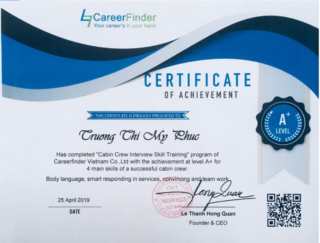 Bỏ học chạy theo ước mơ tiếp viên hàng không, Chúc mừng Trương Thị Mỹ Phúc trúng tuyển tiếp viên hàng không Việt Nam Airline